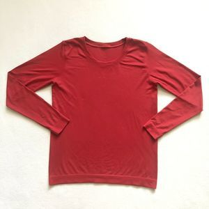 Lululemon Swiftly Relaxed Long Sleeve Top Dark Red
